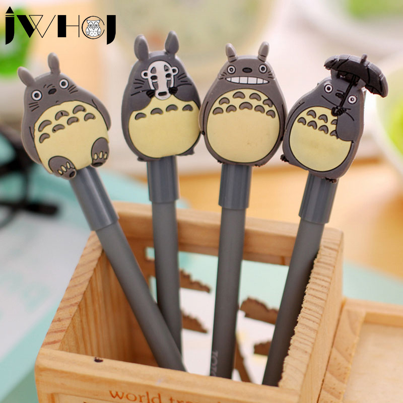 4pcs/lot cute totoro gel pen cute pens material escolar kawaii stationery canetas escolar school office supplies Free shipping lapices erasable pen kawaii stationary material escolar boligrafo gel penne cute canetas floral caneta stylo borrable cancellabi