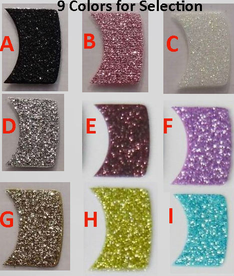 Wholesale 9 Colors 3D Glitter Nail Art Stickers French Manicure Tip Free Shipping