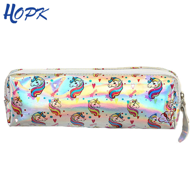Unicorn Glitter Pencil Case Colorful Rainbow Laser Pencil Bag for Girts School Supplies BTS Stationery Pencilcase Pencil Box автомагнитола pioneer deh s100ubg