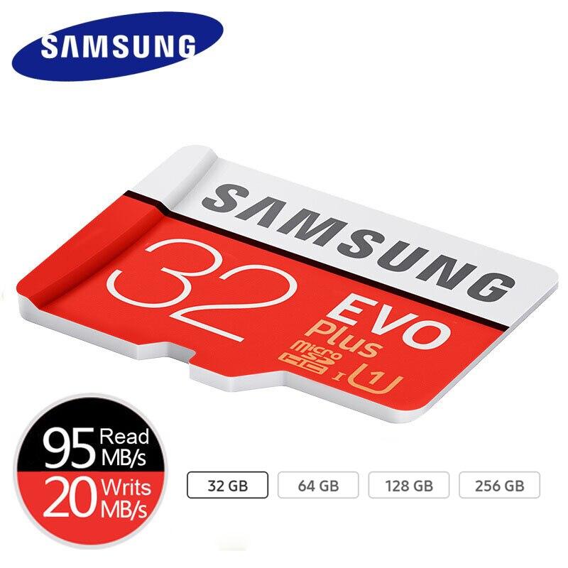 SAMSUNG 100% orijinal mikro SD kart 128GB 64GB U3 hafıza kartı MicroSD EVO Plus 32GB U1 sınıf 10 akıllı telefon tablet kamera