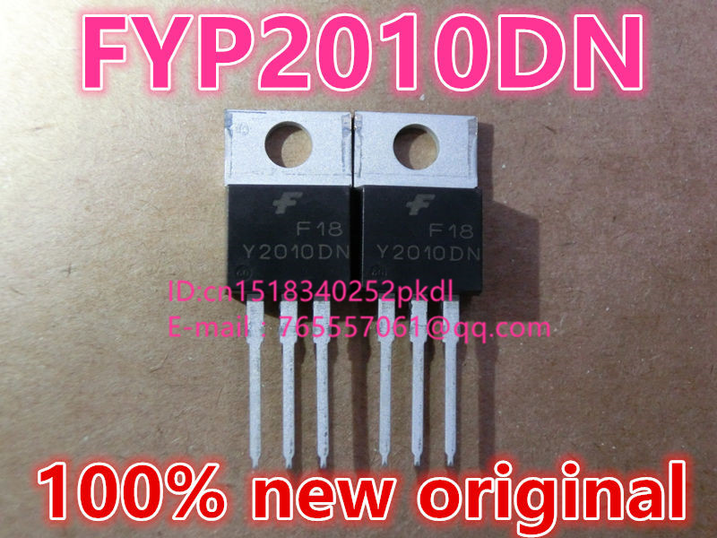 100% new original imported  FYP2010DN Y2010DN TO-220 Schottky barrier diode 20A 100V free shipping 5pcs lot 40cpq100 schottky diode new original