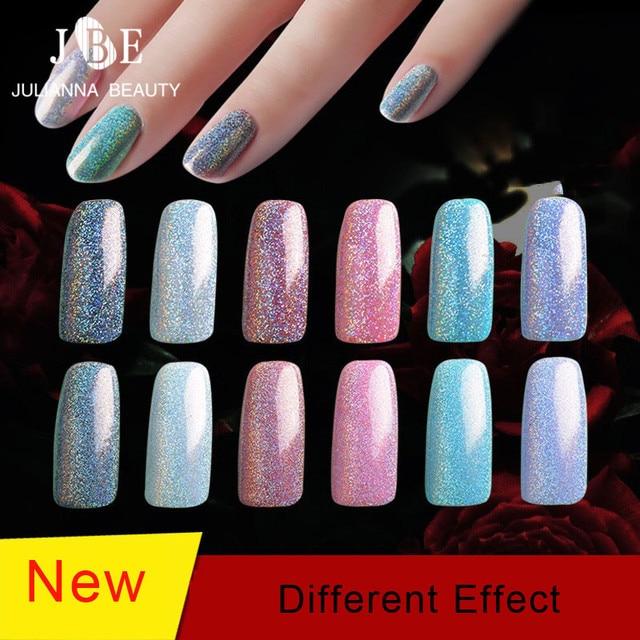 89b6a02cd0 5 botellas * 2g espejo polvo cromado pigmento uñas brillo arte espejo efecto  mágico polvo para