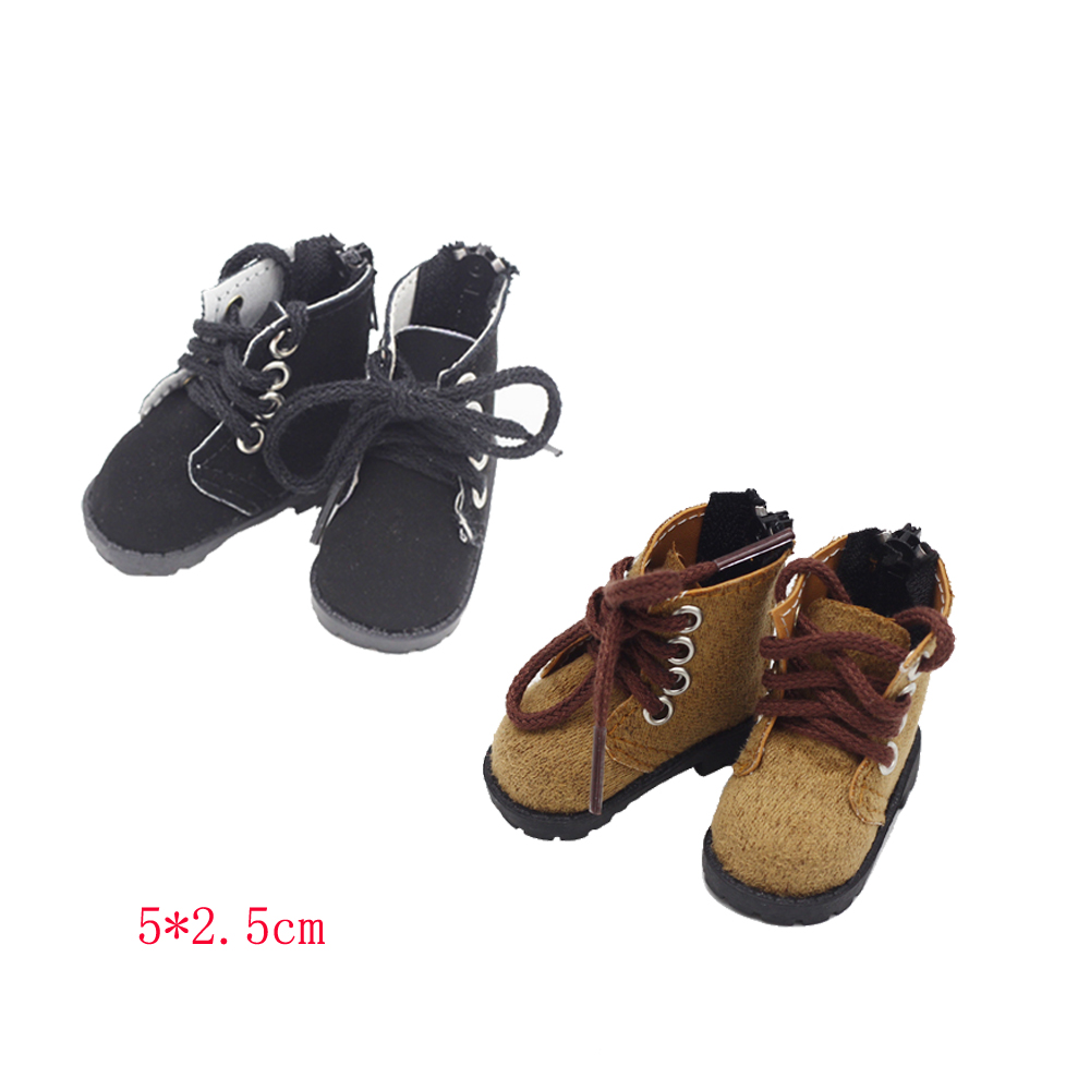 5*2.5cm 14.5-inch Girls Doll Shoes 1/6 BJD Sports Boot PU EXO Dolls Baby Toys Fit Milo Dolls Accessories