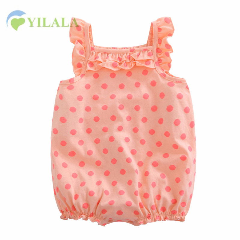 Polka Baby Girl Rompers Lace Sweet Cotton Girls Romper Cotton Kids Sleeveless Jumpsuit Soft Summer Clothes Baby Girl Clothing0-1 newborn baby rompers baby clothing 100% cotton infant jumpsuit ropa bebe long sleeve girl boys rompers costumes baby romper