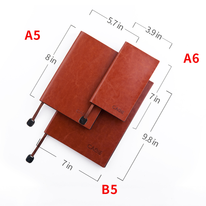 CAGIE Vintage Leather Notebook a5 b5 Filofax Daily Planner a6 Small Office Supplies Dotted Lined Notebook Pocket Agenda Diary a5 retro scrub leather notebook filofax business notebook personal creative notebook office portable stationery supplies
