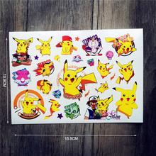 Pokemon Go Pikachu Temporary Flash Tattoo Sticker/ACG087 Waterproof Body Art Tattoo For Kids/Japanese Harajuku Cartoon Tatoo
