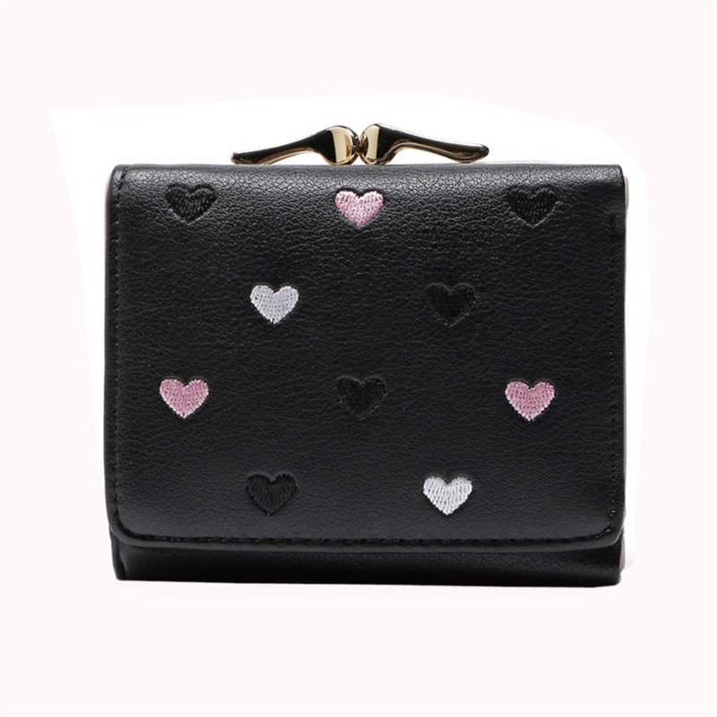 2018 Luxury Brand Women Small Wallets Short Money Wallets PU Leather Lady Zipper Coin Pocket Purses Female Fashion Card bag