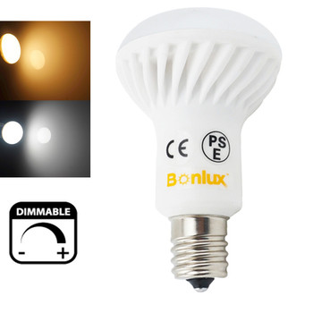 Dimmable E17 Base R16 LED Light Bulb SMD5730 5 Watts R14 Dimming Lamp 50W Halogen