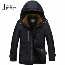 AFS JEEP casaco masculino inverno 2017,Detachable Hat Keep Warmly Russian Winter High Hot cotton material cargo army coat parkas