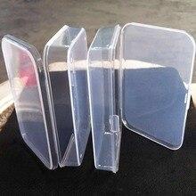 2Pcs Clear Transparent Plastic Storage Box