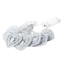 10 LED Love Heart String Fairy Light Bedroom Wedding Party Decor Cool White
