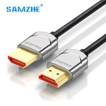 SAMZHE hdmi 2 0 cable soft thin hdmi to hdmi 4K 2K UHD 3D 0 5M