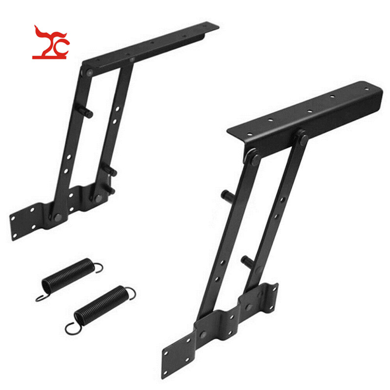 A pair of foldable Lift Up Top lifting frame spring coffee table legs and feet spring Hinge HardwareA pair of foldable Lift Up Top lifting frame spring coffee table legs and feet spring Hinge Hardware