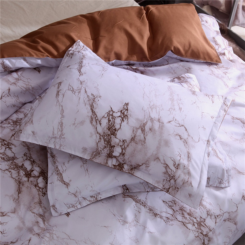 Image 3 - Simple Marble Bedding Duvet Cover Set Quilt Cover Twin King Size With Pillow Case comforter durable 3D Design luxury bed cover-in Bedding Sets from Home & Garden