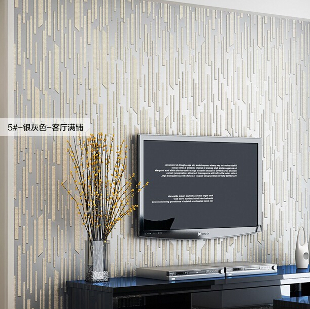 Modern luxury silver 3d striped wallpaper 3d relief murals background wallpaper modern art living room tv wallpaper roll in wallpapers from home improvement