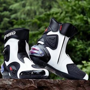 Image 3 - Reiten Tribe Mikrofaser leder Motorrad Stiefel Pro biker Speed Bikers Moto Racing Motocross Schuhe