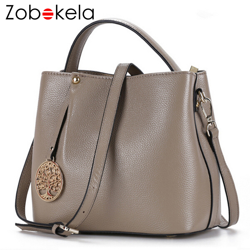 ZOBOKELA Genuine Leather Women Messenger Bag female luxury handbag women bag designer Ladies women Shoulder Bag crossbody tote zobokela luxury handbags women bags designer famous brand genuine leather bag female crossbody messenger shoulder bag tote black