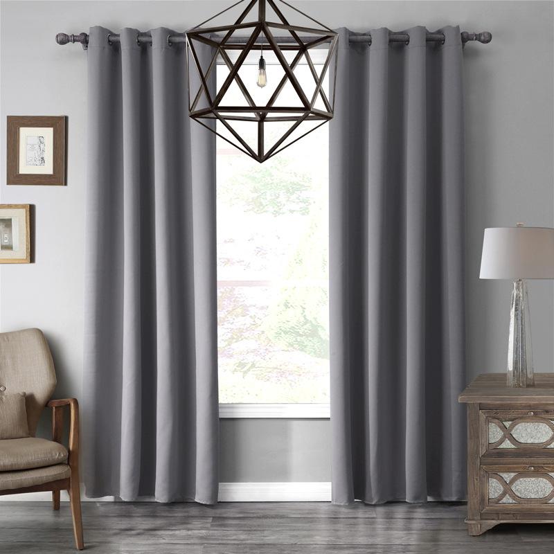 gris apagn cortinas para la sala de estar cocina dormitorio cortina cortina quarto decoracin cortinas ojal