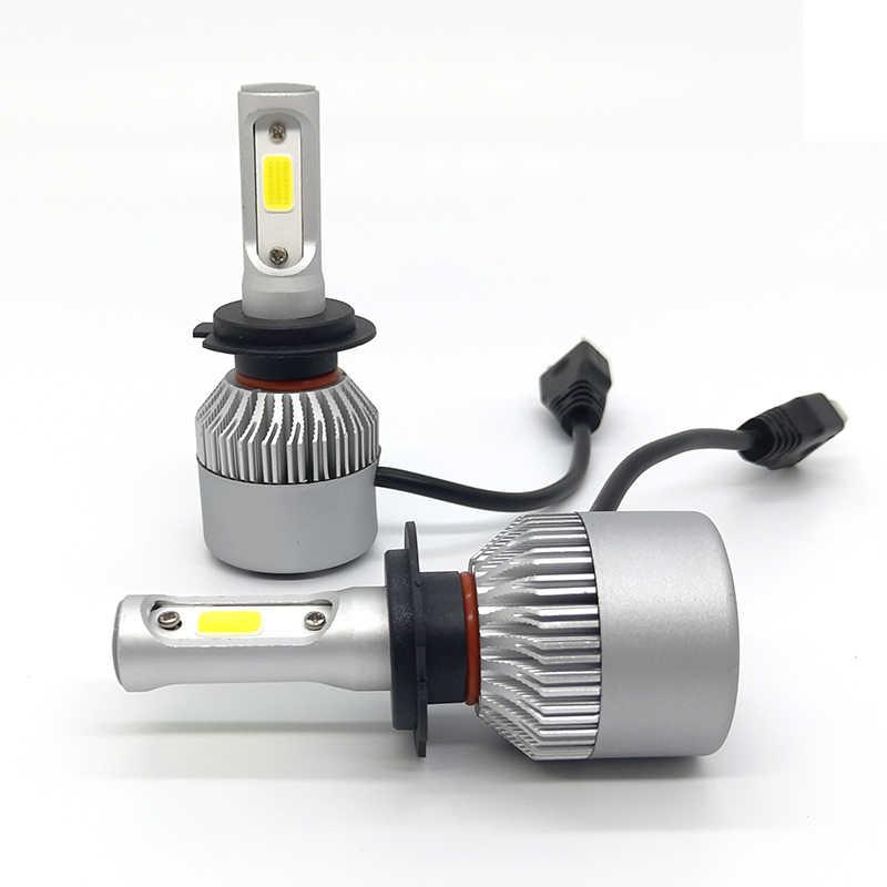 Car Headlight bulbs H11 LED H1 H8 H9 9005 9006 2PCS COB Chips Car LED H4 Hi-Lo Beam 40W 8000LM 6000K Auto fog light 12V led lamp