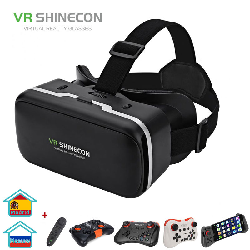 <font><b>VR</b></font> SHINECON G04 Virtual Reality Headset 3D <font><b>VR</b></font> <font><b>Glasses</b></font> for 4.7-6.0 inches Android iOS Smart Phones image