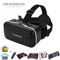 VR SHINECON G04 auriculares de realidad Virtual gafas 3D VR para teléfonos inteligentes de Android IOS de 4,7-6,0 pulgadas