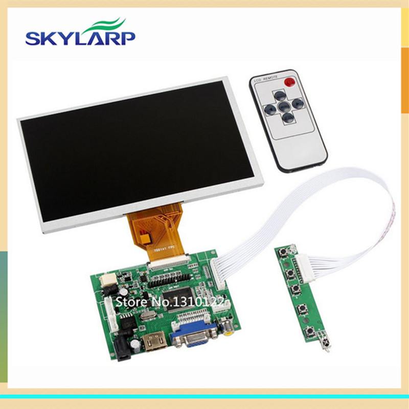 skylarpu 7 inch Raspberry Pi LCD Screen TFT Monitor AT070TN90 with HDMI VGA Input Driver Board Controller (without touch) finesource 7 1280 x 800 digital tft lcd screen driver board for banana pi raspberry pi black