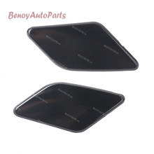 A Pair Front Bumper Headlight Washer Nozzle Cover Random Color For Volvo S40 V50 2008 2009 2010 2011 2012 39886397 39886377