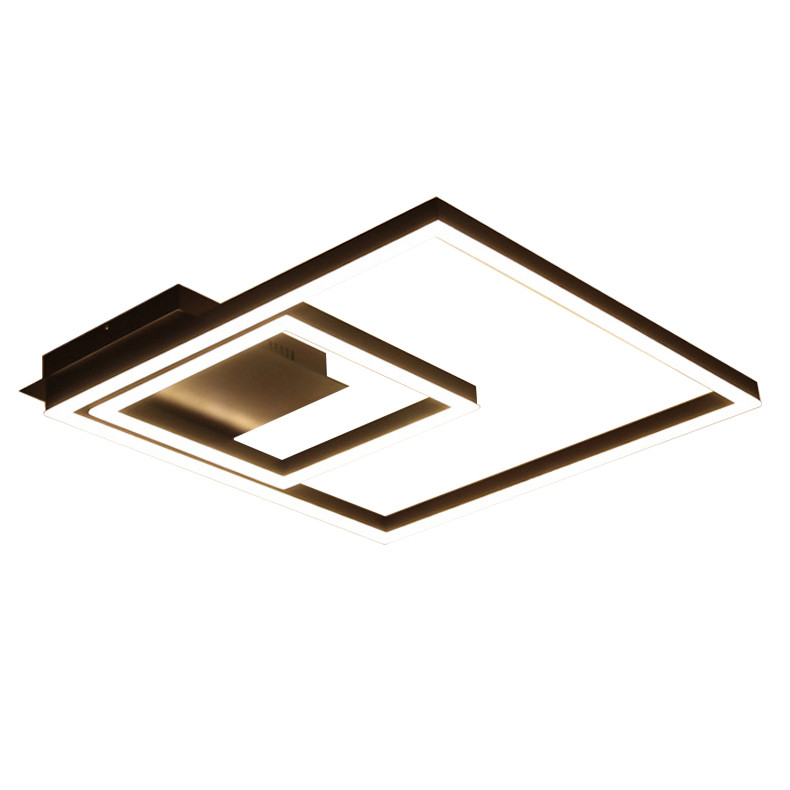 2018 NEW Black Square LED Ceiling Lamp For Living Room Designer Bedroom Acrylic Lamps Home Decor Lighting Fixtures