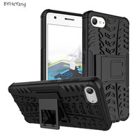 For Lenovo ZUK Z2 Case TPU & PC Dual Armor Cover with Stand Holder Hard Silicone Armor Shock Proof Anti-Skid Combo Back Case