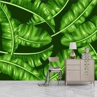Custom Green 3d Wallpaper Leaf Free Desktop Wallpaper Thicken Waterproof Minimalist TV Background Home Decor Wall Paper Photo
