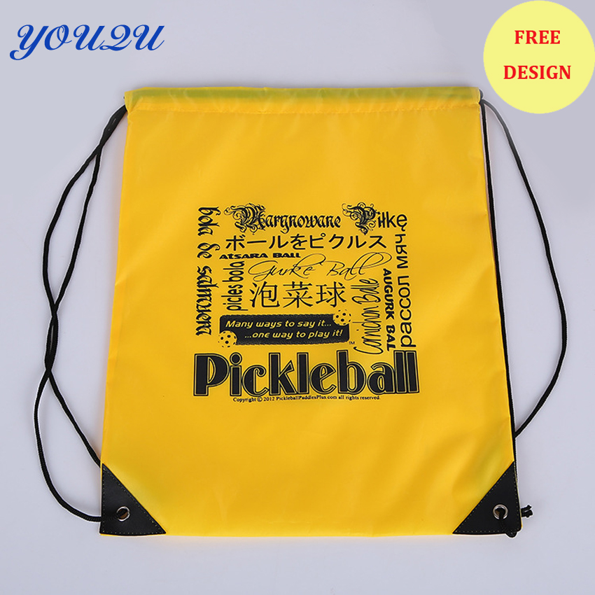 Most Popular Best Selling Promotional Polyester Drawstring Bag Backpack Bag MOQ 500pcs Free Shipping