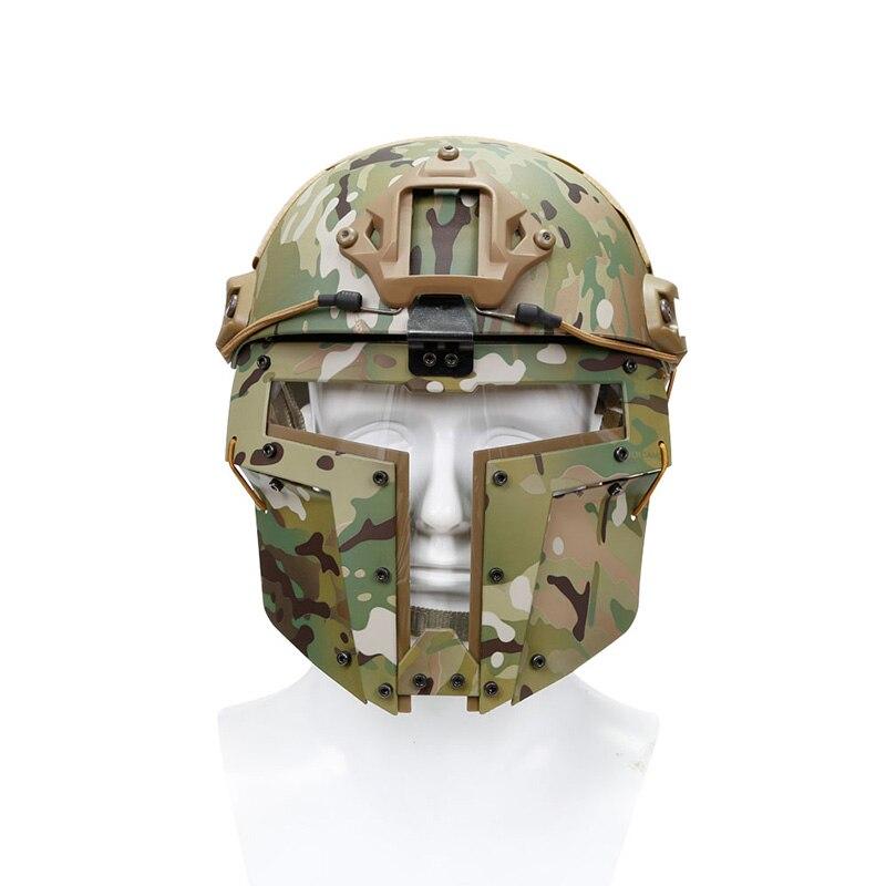 TACTIFANS masque en maille tactique masque en acier plein visage lunettes de Vision de lentille pour casque rapide Airsoft Paintball