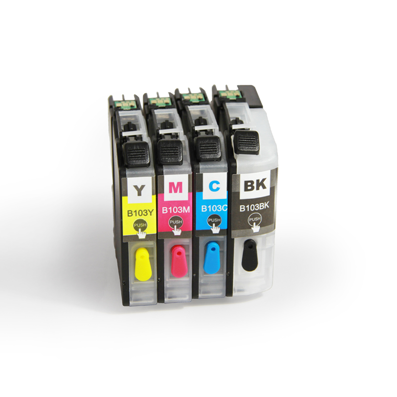 Brother LC101 LC103 LC105 LC107 LC109 Refillable Ink Cartridge for DCP-J152W MFC