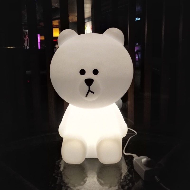 H50cm Large Bear LED Night Light Dimmable Children Bedroom USB Night Lamp Creative Cartoon Gift for Baby Kids Floor Lamp touch led night light projector dimmable usb atmosphere wall lamp for children baby kids gift bedside bedroom remote control