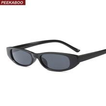 Peekaboo women trendy sunglasses small frame men unisex brown leopard red black