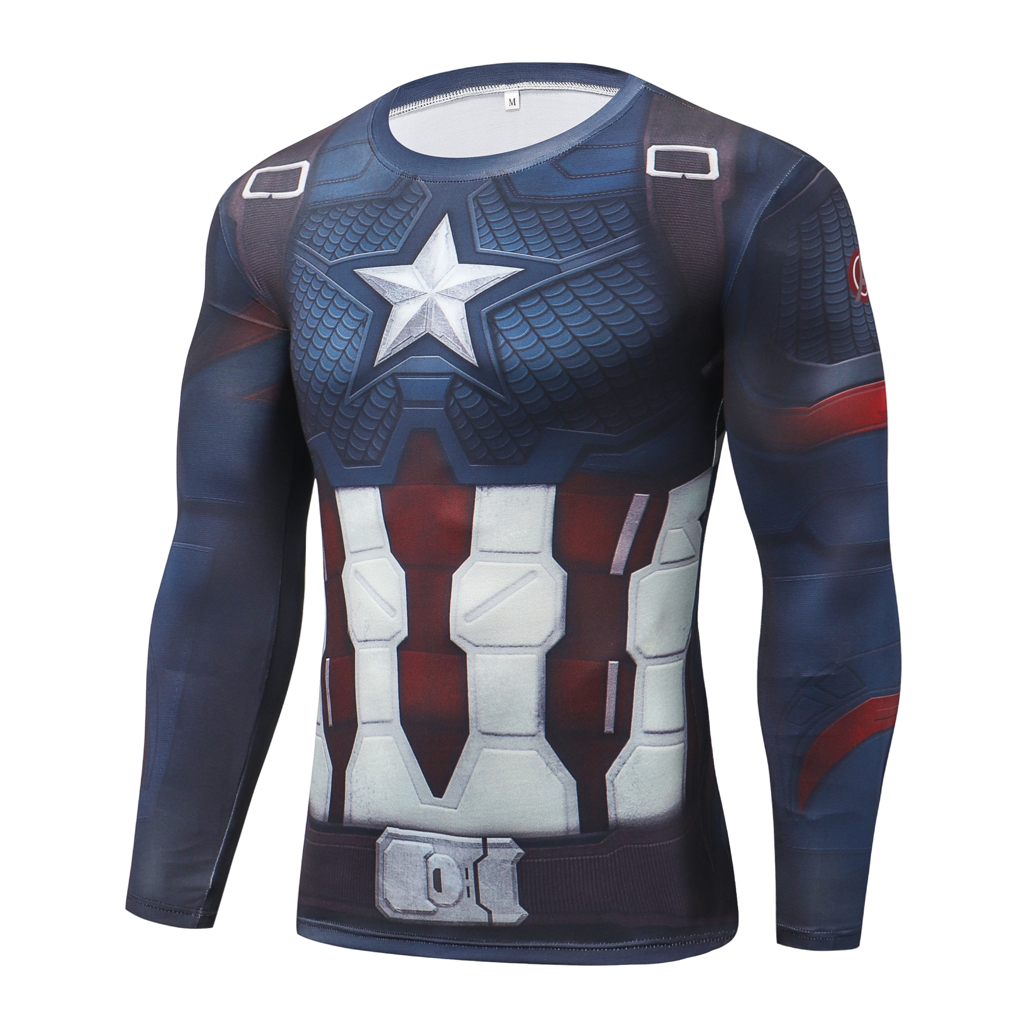 Marvel Avengers 4 Endgame Captain America 3D Print T Shirt Men Long Sleeve T-shirt Compression Shirts Tights Fitness Tops Tee