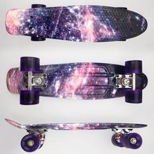 "22 zoll Kinder Mini Fisch Skateboard Lila farbe gemischt universal Kunststoff Cruiser Board Rundet Nologo 22 ""Banana Skateboard"