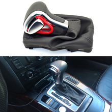 Car Gear Shift Knob Gaitor Boot Cover Leather for Audi A5 A4L Q5 B8 B8PA B9 2009 2010 2011 2012 2013 2014 2015 2016 Car-styling beler new black pu leather at shift knob gaiter for audi a3 a4 a5 a6 q7 q5 2009 2010 2011 2012 2013 2014 2015 left hand drive