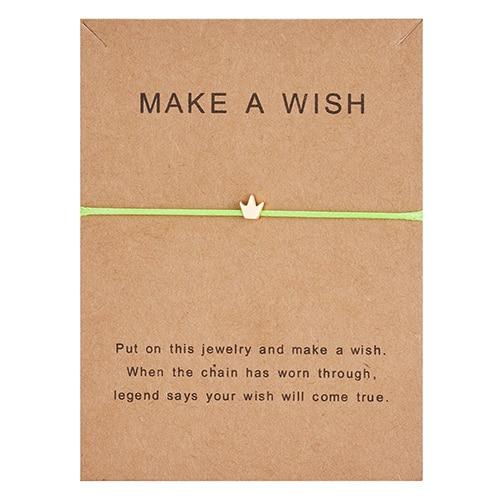 Регулируемый браслет с бумажными карточками в форме бабочки, звезды, короны, Круглый тканый браслет ручной работы, Простые Модные женские ювелирные изделия, подарки - Окраска металла: 10