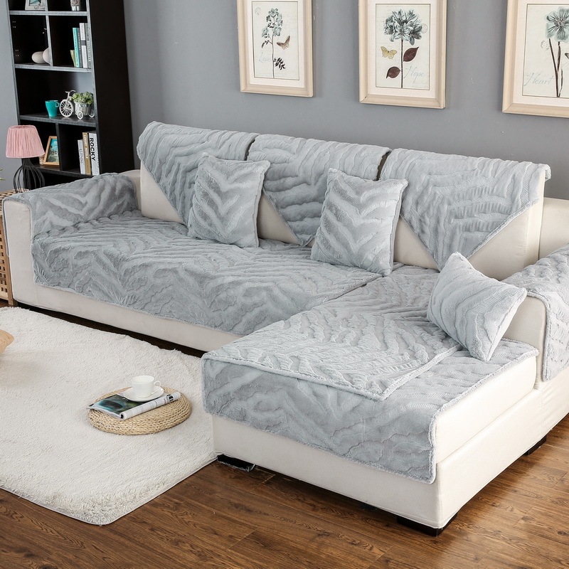 Aliexpress.com : Buy 1 Piece Striped Plush Sofa Cover