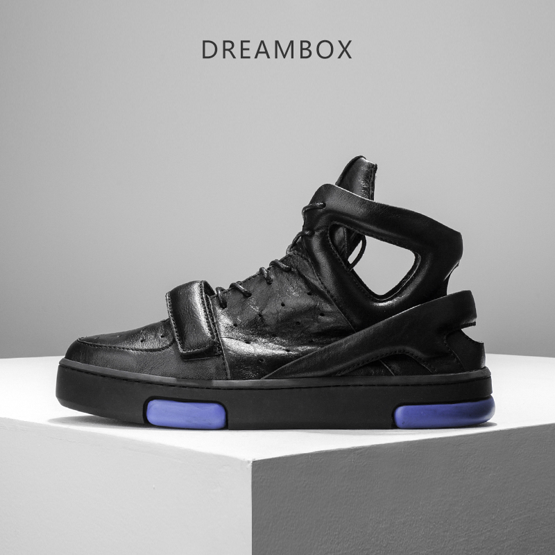 dreambox Summer European and American sports leisure air permeability hollow youth tidal current leather  platform sandals european youth policy regarding active youth participation