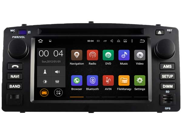 Android 7.1.1 2GB car DVD play for Toyota Corolla 2004-2007 gps navigation audio radio stereo headunits multimedia tape recorder