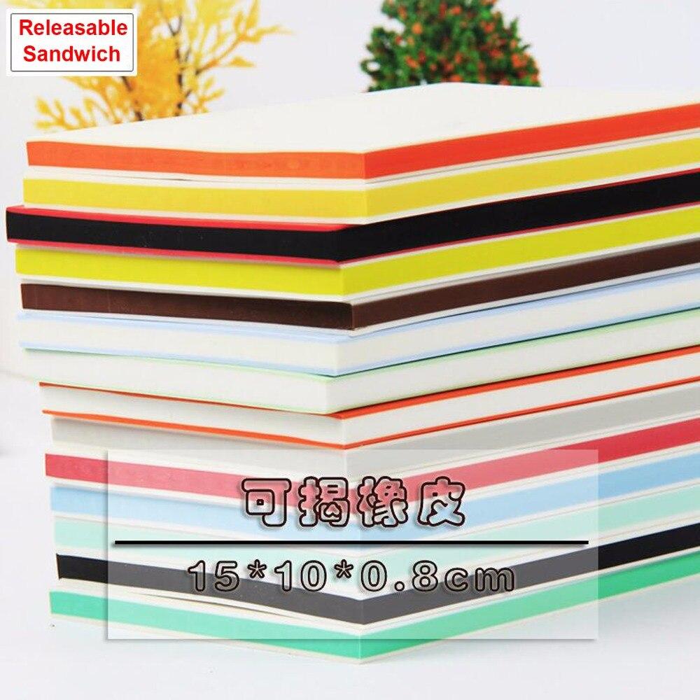 (5 pcs/lot) 15*10*0.8CM mix color Releasable Sandwich Carving blocks art Rubber Stamps large size- DIY school project supplies