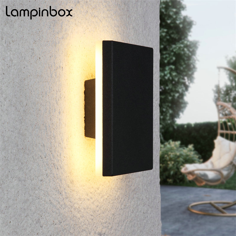 12w LED Wall Lights Outdoor Aluminum Waterproof Wall Lamp Indoor Wall Decorate Lighting Garden Porch Light Fixture Gray LP32 eiceo hot one side light led wall lamp outdoor waterproof porch garden wall lighting bulkhead gray black free shipping lamps
