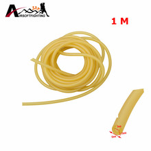 3mm x 6mm Natural Latex Slingshots Rubber Tube 1M Elastic Tubing Band Outdoor Hunting Shooting Catapult Rubber Band Bungee Tool$