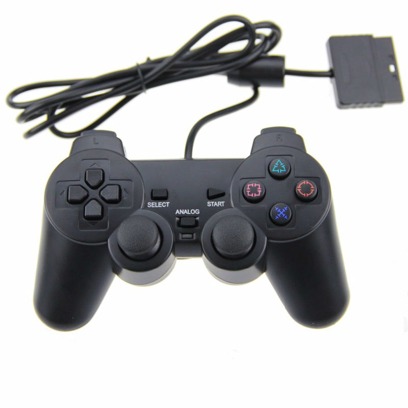 Wholesale Price Wired Controller para PS2 Joystick Gamepad For Game Console Playstation 2 Black FOR PS2 Gamepad 1pcs 12cm 14g big wobbler fishing lures sea trolling minnow artificial bait carp peche crankbait pesca jerkbait ye 37