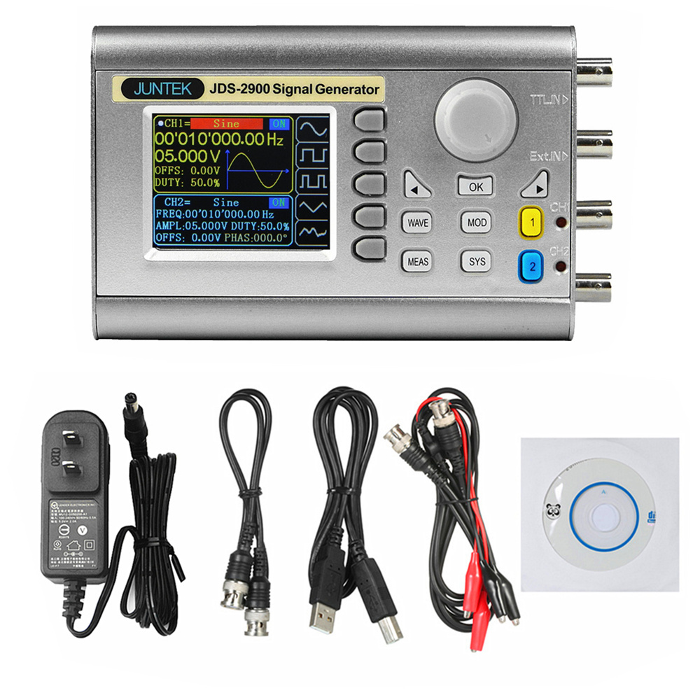 JDS2900 DDS Signal Generator Counter 40MHz High Precision Dual-Channel Arbitrary Waveform Function Generator Frequency Meter mhs 5212p power high precision digital dual channel dds signal generator arbitrary waveform generator 6mhz amplifier 80khz