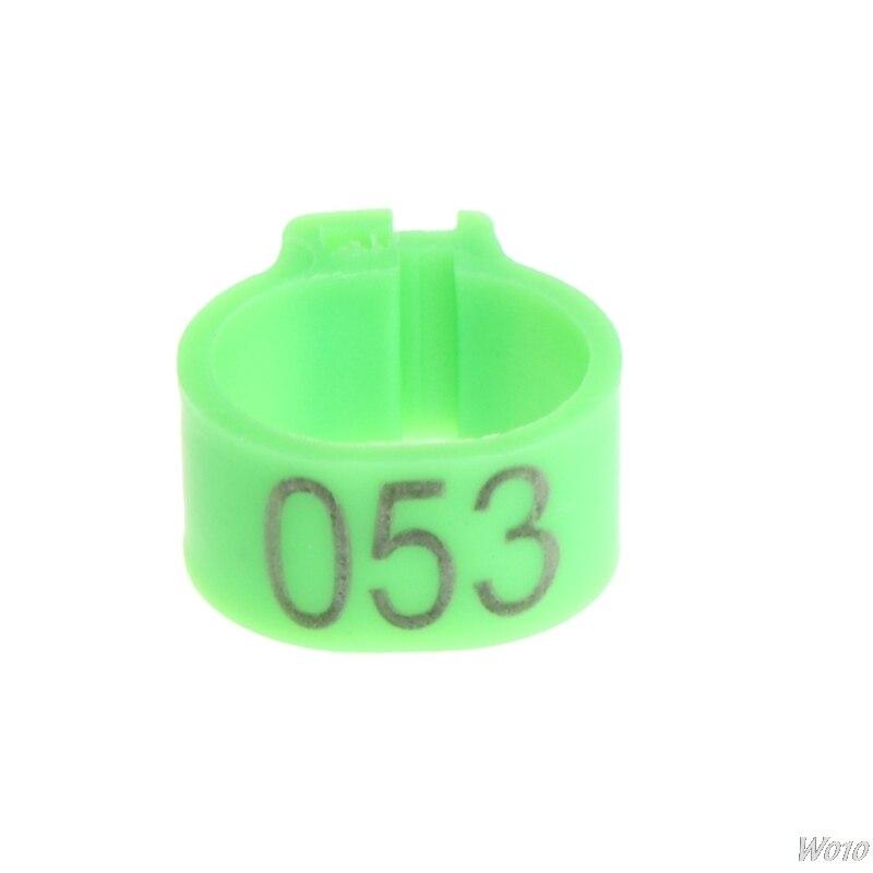 100 шт. 10 мм определить кольцо Голубиной Для дрессировки ноги номер группы птиц