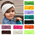 21 Colors Baby Girl Headbands Turban Stretchable Knot Newborn Infant Lace Headband Girls Flower Headwear Hair Accessories