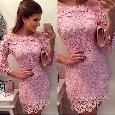 jurk kant roze